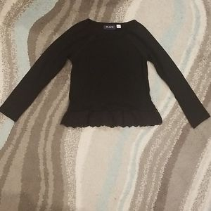 Girls Black Sweater with Lace